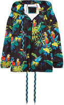 Marc Jacobs Hooded Printed Shell Jacket - Black