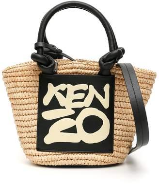 Kenzo Mini Basket Bag With Logo