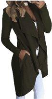 Ninimour Women's Pocket Irregular Trim Cardigan Coat