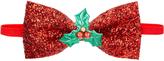 Accessorize Glitter Bow Bando & Bow Tie