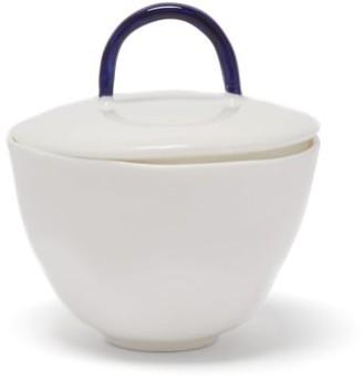 Feldspar - Painted-handle Fine China Sugar Bowl - Blue White