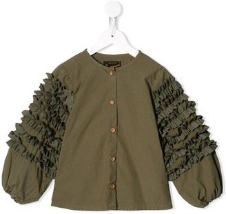 Go To Hollywood Ruffled Sleeves Button Down Shirt