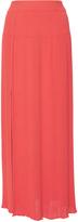 Sonia Rykiel Red Front Split Knit Skirt