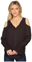 Heather Stevie Twill Voile Cold Shoulder Neck Tie Women's Clothing