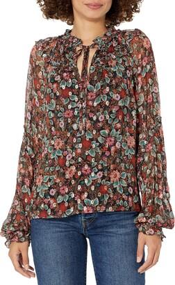 Ramy Brook Women's Floral Printed Ryder Long Sleeve Top
