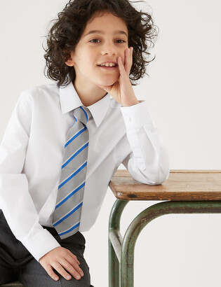 Marks and Spencer 3pk Boys' Longer Length Easy Iron School Shirts