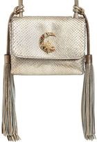 Roberto Cavalli Small Swarovski Moon Python Shoulder Bag