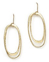 Bloomingdale's 14K Hammered Yellow Gold Double Oval Drop Earrings