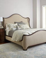 Horchow Laine Walnut King Bed