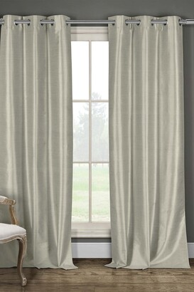 Duck River Textile Daenery's Faux Silk Foamback Grommet Curtains 96L - Set of 2 - Taupe