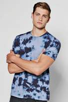 Boohoo Two Tone Tie Dye T Shirt