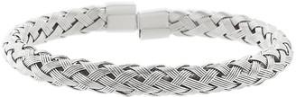 Bliss Women's Bracelets Silvertone - Stainless Steel Textured Cuff