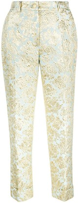 Dolce & Gabbana Jacquard Cropped Trousers