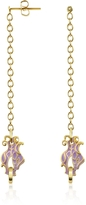 Just Cavalli Dragon Enamel Head Drop Earrings