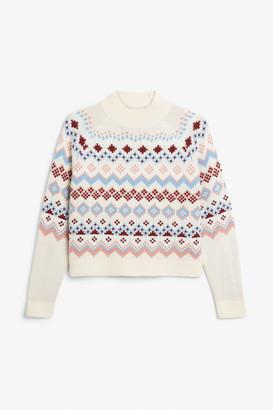 Monki Nordic ski knit