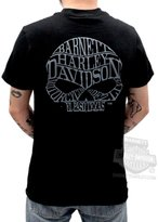 Harley-Davidson Mens Willie G Skull Barnett Harley Exclusive Grey Ink Shirt