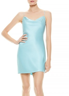 Alice + Olivia Harmony Cowl Neck Slip Dress