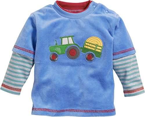 Schnizler Baby Boys Nicki Long Sleeve Shirt Tractor Sweatshirt,(Size: 62)