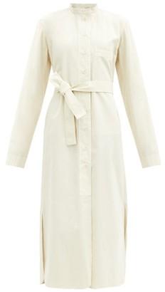 Lemaire Belted Cotton-poplin Shirt Dress - Cream