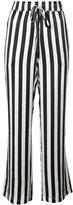Anine Bing striped wide leg trousers
