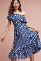 Anthropologie Mykonos One-Shoulder Dress, Blue