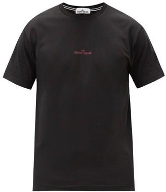 Stone Island Logo-print Cotton T-shirt - Black