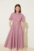 Mansur Gavriel Gingham Shirt Dress - Wine