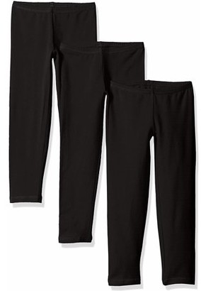 Hanes Girls Cotton Leggings, 3-Pack, Sizes 4-16
