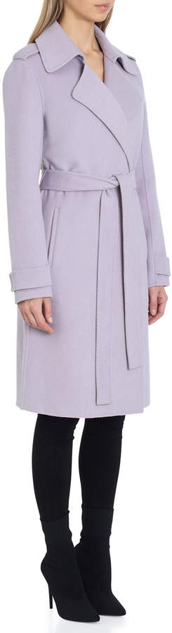 Chloe Double-Face Wrap Coat