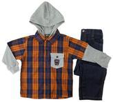 Boyzwear Boys' 2-Piece Hooded Shirt And Pant Set