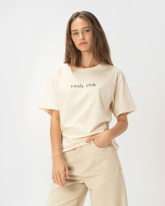 Cools Club - Women's Neutrals Basic T-Shirts - Cools Club Sunday Tee - Size One Size, 6 at The Iconic