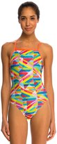 Speedo Stripes Printed Propel Back One Piece Swimsuit 8138484