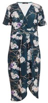 Dorothy Perkins Womens Quiz Multi Colour Floral Print Wrap Midi Dress