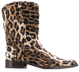 Martine Rose Leopard Print Boots