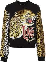 Love Moschino Leopard Print Sweatshirt