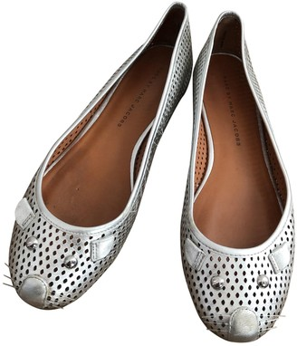 Marc by Marc Jacobs Silver Leather Ballet flats