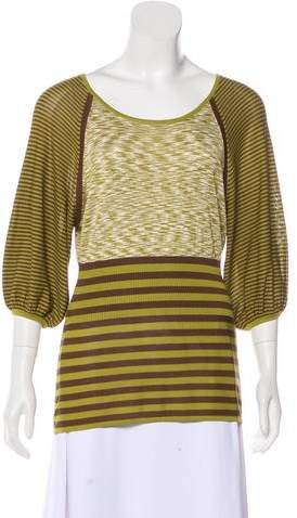 Derek Lam Silk Striped Top