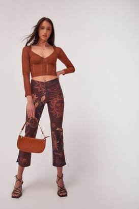 Jaded London Womens **Mystic Tattoo Trousers By Brown