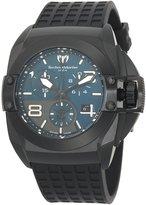 Technomarine Men's 908004 BlackWatchChronograph Dial Black Rubber Watch