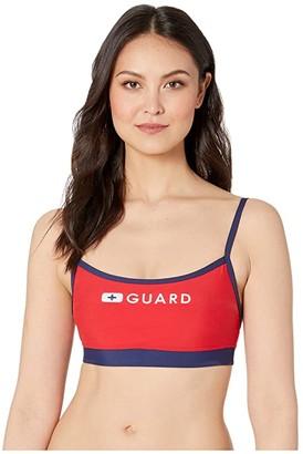 Speedo Guard Thin Strap Top (US Red) Women's Swimwear