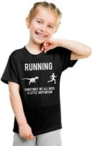 Crazy Dog T-shirts Crazy Dog Tshirts Youth Funny Running Motivation Dinosaur T shirt for Kids -S