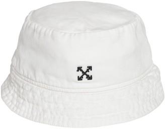 Off-White Off White LOGO COTTON CANVAS BUCKET HAT