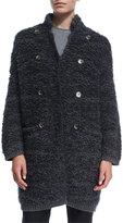 Brunello Cucinelli Long Fuzzy Knit Sweater Jacket