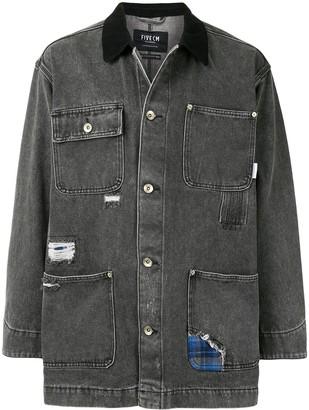 Five Cm Distressed Denim Shirt Jacket