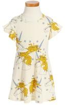 Mini Rodini Toddler Girl's Unicorn Star Organic Cotton Dress