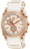 Brillier Men's 01.3.3.4.13.8 Chronograph Method Air Rose-Tone White Rubber Watch