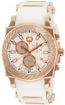 Brillier Men's 01.3.3.4.13.8 Chronograph Method Air Rose-Tone White Rubber Watch