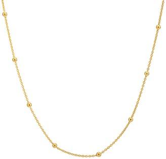 "Katie Belle 18ct Gold Vermeil 19-22"" Beaded Chain"