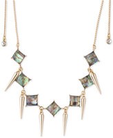 ABS by Allen Schwartz Gold-Tone Spike & Abalone Stone Choker Necklace
