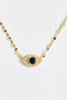 francesca's Aaliyah Evil Eye Pendant Necklace - Navy